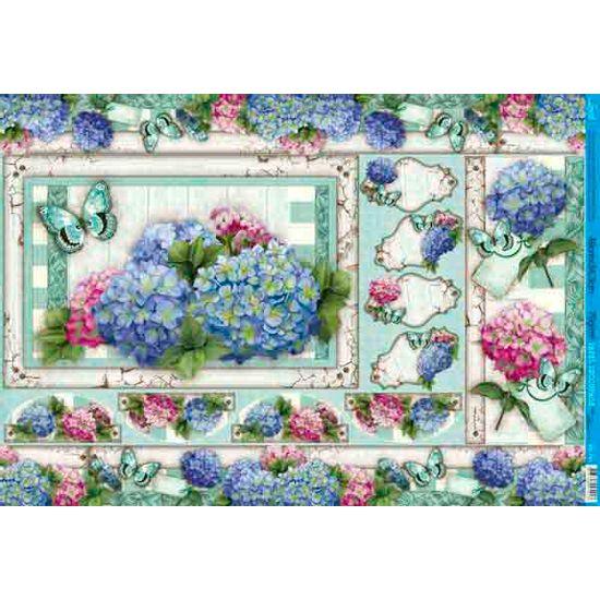 Papel decoupage grande moldura flores pd 701 litoarte - Papel decoupage infantil ...