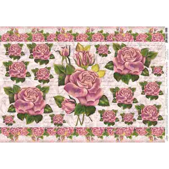 Papel decoupage grande rosas pd 309 litoarte palaciodaarte - Papel decoupage infantil ...