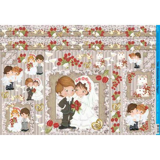 Papel decoupage grande noivos pd 413 litoarte palaciodaarte - Papel decoupage infantil ...