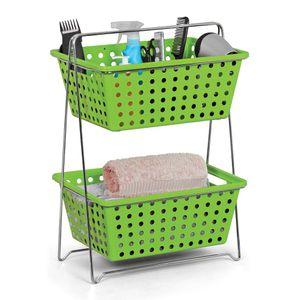 Fruteira--Organizador-Itapua-Duplo-Retangular-Verde---Niquelart