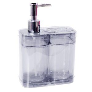 Kit-Porta-Sabonete-Liquido-e-Escovas-2-pecas-Cristal-99096-7009---Coza