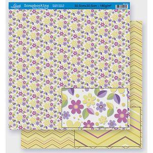 Scrapbook-Folha-Dupla-Face-Flores-SD-303-Litoarte-