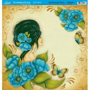 Papel-Scrap-Decor-Folha-Simples-Flores-SS-072---Litoarte