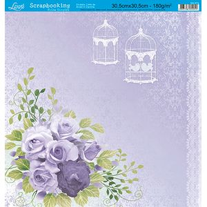Papel-Scrap-Decor-Folha-Simples-Flores-SS-074---Litoarte-