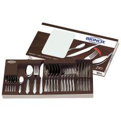 Faqueiro-Lyon-24-pecas-Aco-Inox-5101-102---Brinox