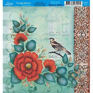Papel-Scrap-Decor-Folha-Simples-15x15-Flores-SDSXV-015---Litoarte-