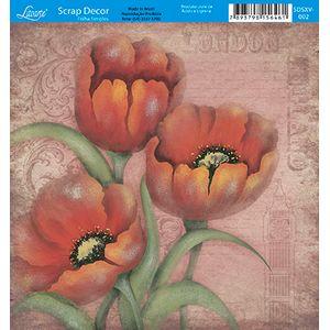 Papel-Scrap-Decor-Folha-Simples-15x15-Flores-SDSXV-002---Litoarte