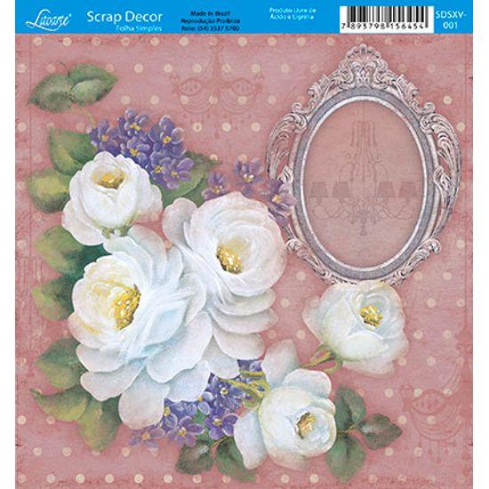 Papel-Scrap-Decor-Folha-Simples-15x15-Flores-SDSXV-001---Litoarte