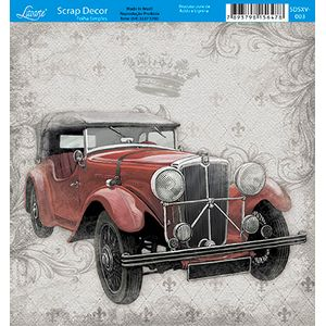 Papel-Scrap-Decor-Folha-Simples-15x15-Carro-SDSXV-003---Litoarte