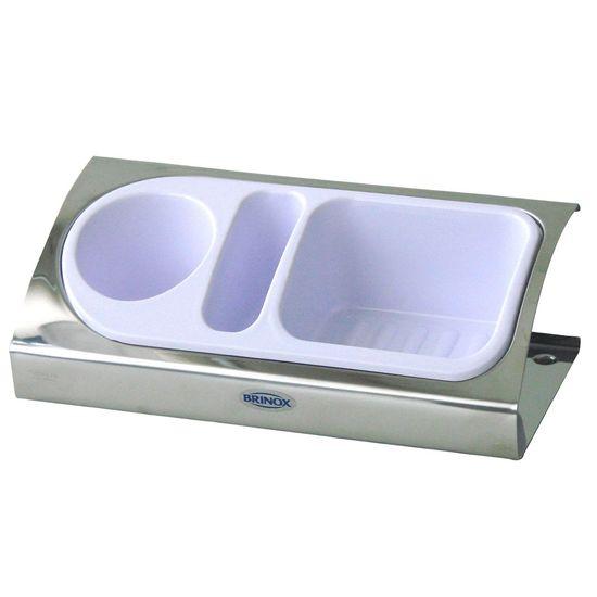 Organizador-Inox-para-Pia-Branco-Suprema-2113-100---Brinox