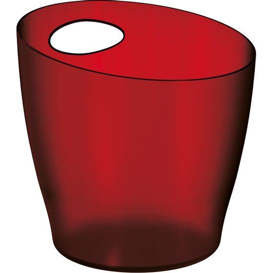 Balde-de-Gelo-6L-Vermelho-Poliestireno-UZ100-VM---UZ-Utilidades