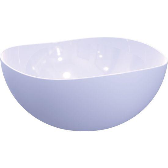 Saladeira-Ovalada-2L-Branca-em-Polipropileno-UZ102-BR---UZ-Utilidades