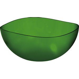 Saladeira-Ovalada-3L-Verde-Escuro-em-Poliestireno-UZ105-VES---UZ-Utilidades