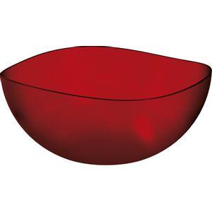 Saladeira-Ovalada-3L-Vermelho-em-Poliestireno-UZ105-VM---UZ-Utilidades