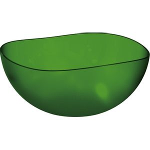 Saladeira-Ovalada-2L-Verde-Escuro-em-Poliestireno-UZ106-VES---UZ-Utilidades