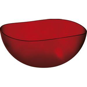 Saladeira-Ovalada-2L-Vermelho-em-Poliestireno-UZ106-VM---UZ-Utilidades