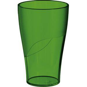 Copo-300ml-Verde-Escuro-em-Poliestireno-UZ114-VES---UZ-Utilidades-