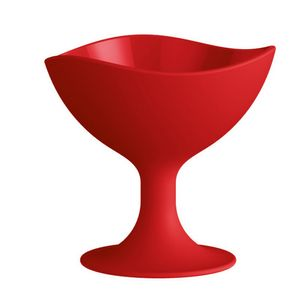 Taca-Sorvete-Redonda-300ml-Vermelho-em-Polipropileno-UZ137-VM---UZ-Utilidades