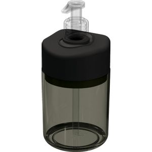 Porta-Sabonete-Liquido-Preto-Translucida-em-Poliestireno-UZ503-PR---UZ-Utilidades