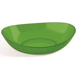 Saladeira-Oval-4L-Plus-Verde-Escuro-em-Poliestireno-UZ170-VES---UZ-Utilidades