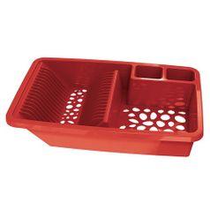 Escorredor-de-Pratos-e-Talheres-Vazado-Vermelho-UZ335-VM---UZ-Utilidades