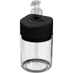 Porta-Sabonete-Liquido-Transparente-com-Tampa-Preta-UZ507-PR---UZ-Utilidades