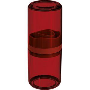 Porta-Escovas-com-Tampa-Vermelho-Translucido-UZ504-VM---UZ-Utilidades