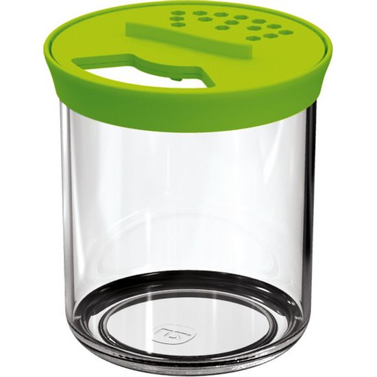 Farinheiro-P-Transparente-com-Tampa-Verde-Clara-Poliestireno-UZ305-VCL---UZ-Utilidades