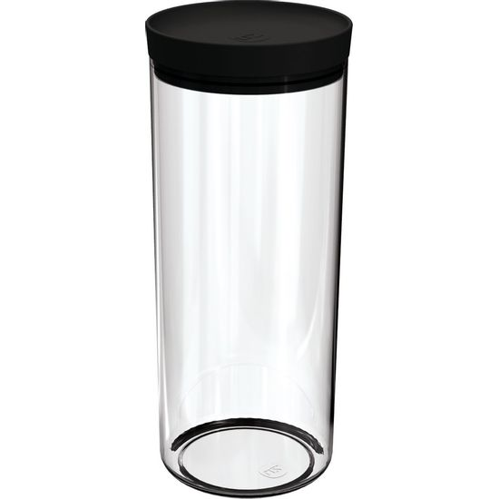 Pote-Mantimentos-25L-Transparente-com-Tampa-Preta-UZ311-PR---UZ-Utilidades