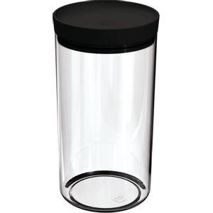 Pote-Mantimentos-19L-Transparente-com-Tampa-Preto-UZ312-PR---UZ-Utilidades