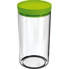 Pote-Mantimentos-19L-Transparente-com-Tampa-Verde-Claro-UZ312-VCL---UZ-Utilidades