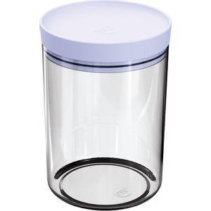 Pote-Mantimentos-14L-Transparente-com-Tampa-Branca-UZ313-BR---UZ-Utilidades