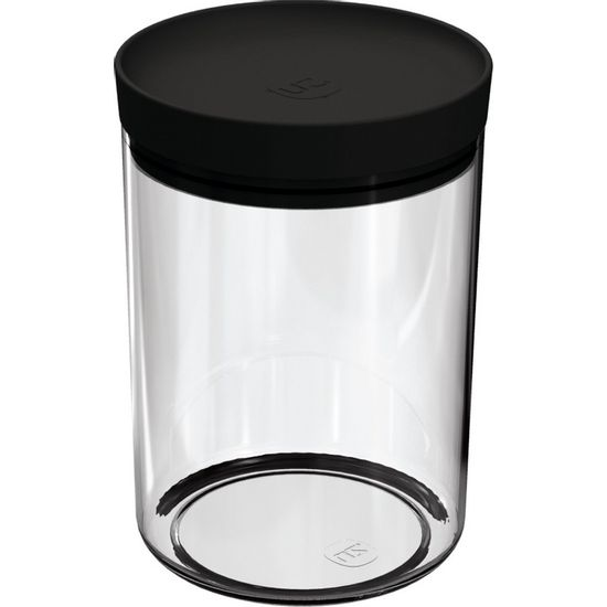 Pote-Mantimentos-14L-Transparente-com-Tampa-Preto-UZ313-PR---UZ-Utilidades-