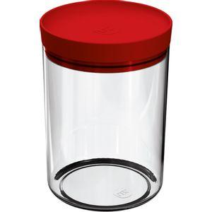 Pote-Mantimentos-14L-Transparente-com-Tampa-Vermelho-UZ313-VM---UZ-Utilidades