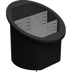 Porta-Talheres-Separador-e-Organizador-Preto-UZ314-PR---UZ-Utilidades