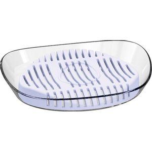 Saboneteira-Transparente-com-Suporte-Branco-UZ505-BR---UZ-Utilidades