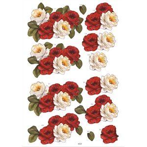 Recortes-para-Scrapdecor-3D-Rosas-Vermelhas-e-Brancas-DC21--Toke-e-Crie