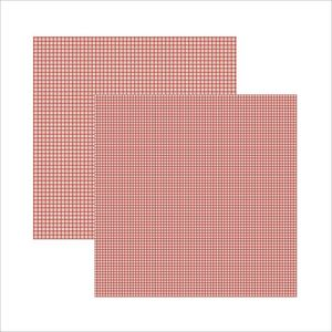 Scrap-Basico-Vermelho-FB-Xadrez-Duplo-KFSB298-Toke-e-Crie