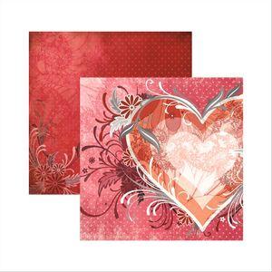 Papel-Scrapbook-Cupido-Coracao-SDF405-Toke-e-Crie