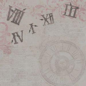 Papel-Scrapbook-Simples-Vintage-Relogios-Escritas-KFS075-Toke-e-Crie