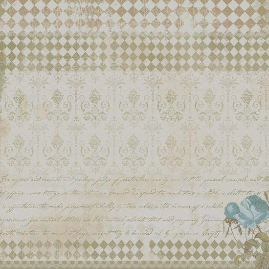 Papel-Scrapbook-Simples-Vintage-Turquesa-Rosas-KFS079-Toke-e-Crie-