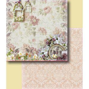 Papel-Scrapbook-Duplo-Flores-LSCD-231-Litocart