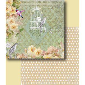 Papel-Scrapbook-Duplo-Flores-LSCD-228-Litocart
