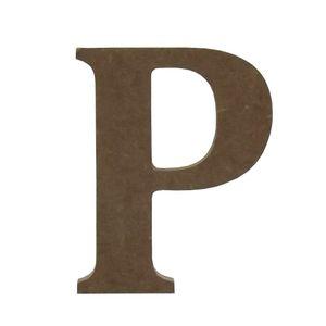 Enfeite-de-Mesa-Letra--P--12cm-x-18mm---Madeira-MDF