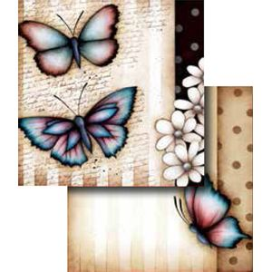 Papel-Scrapbook-Duplo-Flores-LSCD-253-Litocart-