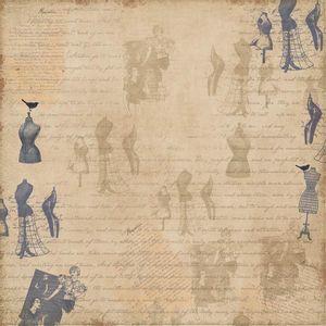 Papel-Scrapbook-Simples-Moda-Escritas-KFS083-Toke-e-Crie
