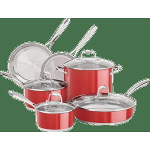 Conjunto-de-Panelas-6-Pecas-Inox-Esmaltado-Vermelho-KI608AVONA---KitchenAid