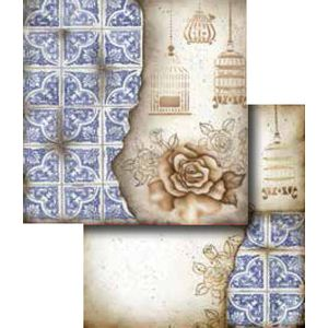 Papel-Scrapbook-Duplo-Flores-LSCD-254-Litocart
