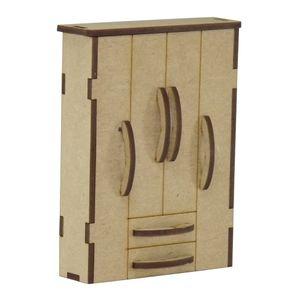 Guarda-Roupas-4-Portas-e-2-Gavetas-Miniatura---MDF-a-Laser
