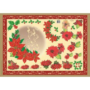 Papel-Decoupage-Flores-de-Natal-DFG361N---Toke-e-Crie